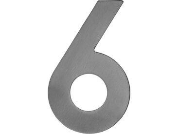 Metafranc Hausnummer '6' 12 cm, silbern