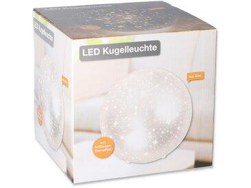 LED-Kugelleuchte mit Sterneneffekt Ø 20 cm silbern