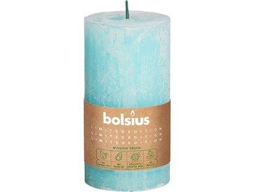 Bolsius Stumpenkerze 'Divine Earth Rustic' blau Ø 6,8 x 13 cm