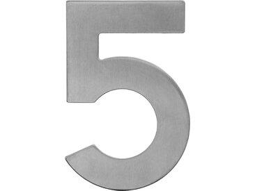 Metafranc Hausnummer '5' 12 cm, silbern