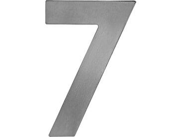 Metafranc Hausnummer '7' 12 cm, silbern