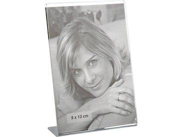 Acryl-Bilderhalter mit Standfuß 9 x 13 cm Hochformat