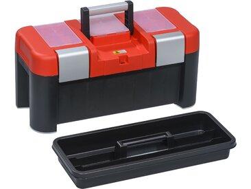 Allit McPlus Profi-Werkzeugkoffer 'Alu 21' rot/schwarz