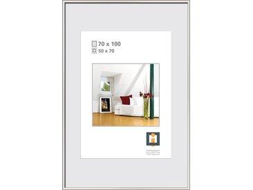 Kunststoffrahmen silber 100 x 70 cm