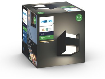 Philips Hue LED-Wandleuchte 'Hue White Fuzo' quadratisch, schwarz 1150 lm, oben/unten