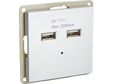 toom USB-Steckdose 'DesignLine' silbern