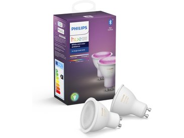 Philips Hue LED-Lampe 'Hue White & Color Ambiance' GU10 5 6,5 W Doppelpack