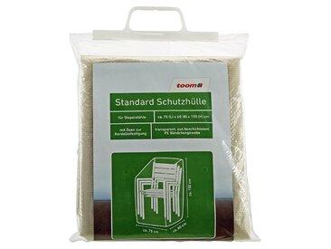 toom Standard Schutzhülle für Stapelstühle PE-Bändchengewebe transparent 75 x 60 x 150 cm