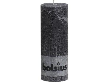 Bolsius Stumpenkerze 'Rustik' anthrazit Ø 6,8 x 19 cm
