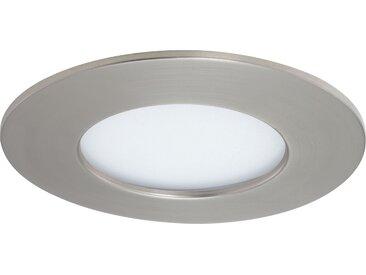 Briloner LED-Einbauleuchte 'Flat' matt-nickel 6 W