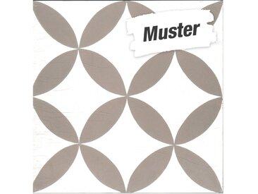 Muster zur  Bodenfliese 'Cement' weiß-braun 20 x 20 cm