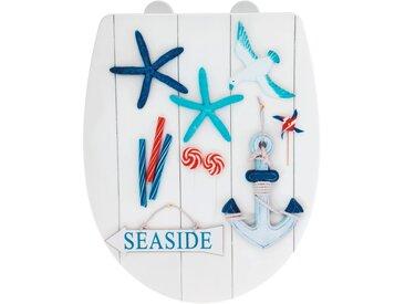 Wenko WC-Sitz 'Seaside', Thermoplast, high gloss