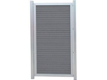 WPC-Zaun-Halbelement Aluminiumrahmen 90 x 175 cm