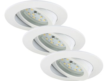 Briloner LED-Einbauleuchtenset 'Attach Dim' 570 lm 6,5 W 3 Stk. dimmbar