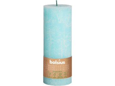 Bolsius Stumpenkerze 'Divine Earth Rustic' blau Ø 6,8 x 19 cm