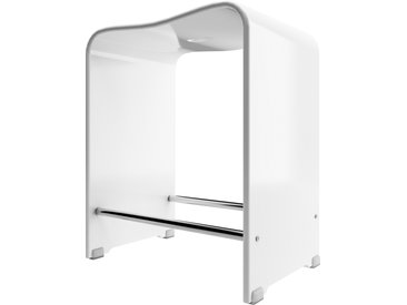 Schulte Duschsitz, Acrylglas, transparent, 39,3 x 27,5 x 47 cm, bis 130 kg