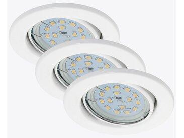 Briloner LED-Einbauleuchte 'Fit Move' weiß 400 lm, 3er-Set