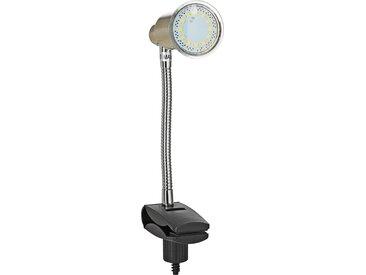 Briloner LED-Klemmleuchte nickelfarben matt 3 W