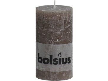 Bolsius Stumpenkerze 'Rustik' taupe Ø 6,8 x 13 cm