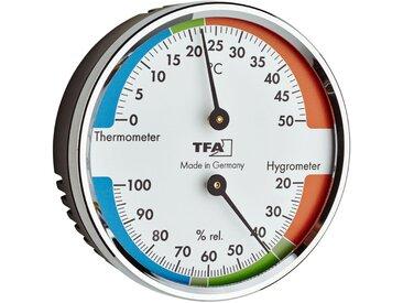 TFA Dostmann Thermo- und Hygrometer verchromt Ø 7 cm
