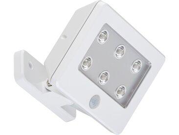 Briloner LED-Außenleuchte mit Sensor 'Lero Outdoor' weiß, 6 Spots