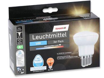 toom LED-Leuchtmittel Reflektor E14 6 W 3er-Pack