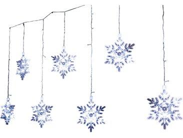 toom LED-Lichtervorhang 'Schneeflocke' 94 LEDs kaltweiß 150 cm
