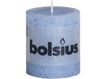Bolsius Stumpenkerze 'Rustik' blau Ø 6,8 x 8 cm
