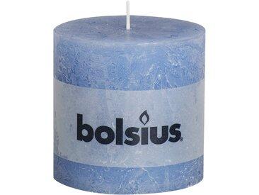 Bolsius Stumpenkerze 'Rustik' blau Ø 10 x 10 cm