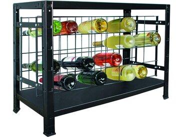 SCHULTE Regalwelt Weinregal schwarz 80 x 43 x 35 cm, für 32 Flaschen