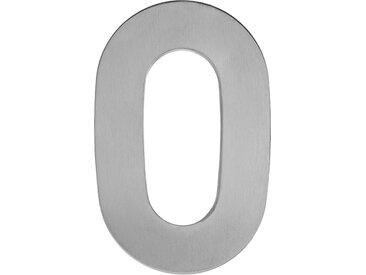 Metafranc Hausnummer '0' 12 cm, silbern