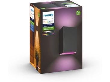 Philips Hue LED-Wandleuchte 'Hue White & Color Ambiance Resonate' schwarz 1200 lm