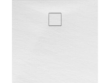 Schulte Duschwanne, Mineralguss, flach, weiß, quadratisch, 100 x 100 x 4 cm