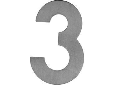Metafranc Hausnummer '3' 12 cm, silbern
