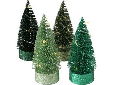 Boltze LED-Tannenbaum 'Forsty' grün 10 cm, 4 Designs sortiert