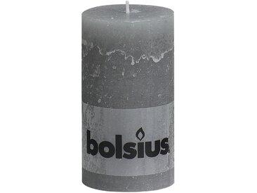 Bolsius Stumpenkerze 'Rustik' hellgrau Ø 6,8 x 13 cm