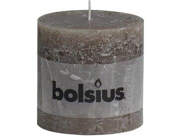 Bolsius Stumpenkerze 'Rustik' taupe Ø 10 x 10 cm