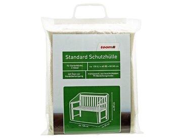 toom Standard Schutzhülle für Gartenbank PE-Bändchengewebe transparent 130 x 60 x 80 cm
