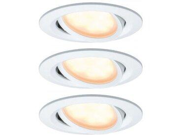 Paulmann SmartHome LED Einbauleuchte Coin 6W Weiß 3er-Set WarmDim schwenkbar