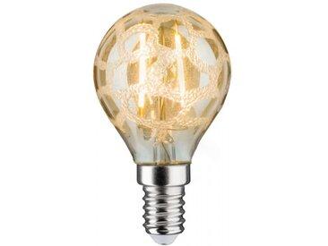 Paulmann LED Retro-Tropfen 4,5W E14 Krokoeis Gold Warmweiß dimmbar