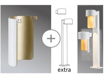 Paulmann Dekorglas für AmbientLED Pollerleuchte Weiß matt/Gold