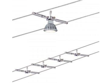 Paulmann Seilsystem Togo Chrom mit 4 Spots ohne Leuchtmittel, max. 10W GU5,3