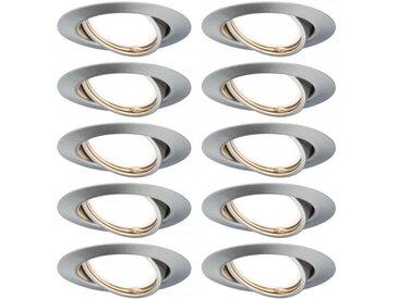 Paulmann Einbauleuchte LED Base rund max. 10x10W GU10 Eisen gebürstet
