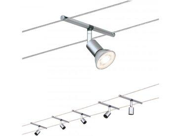Paulmann Seilsystem Salt Chrom matt mit 5 Spots ohne Leuchtmittel, max. 10W ...