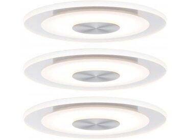 Paulmann Einbauleuchte LED Whirl rund 5,5W Alu Satin 3er-Set dimmbar