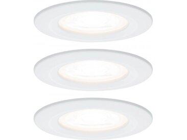 Paulmann Einbauleuchte LED Nova rund 3x6,5W GU10 Weiß matt starr 3-Stufen-di...