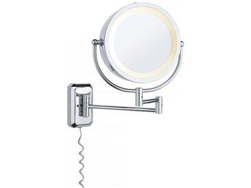 Paulmann Kosmetikspiegel Bela max. 40 W Chrom, Spiegel, Metall, Glas