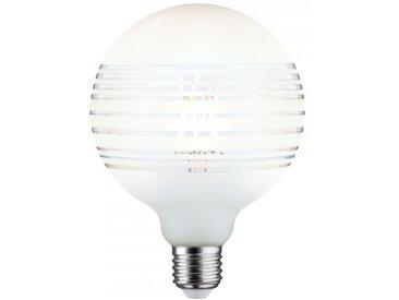 Paulmann LED G125 Ringspiegel Weiß matt liniert E27 2.700K dimmbar