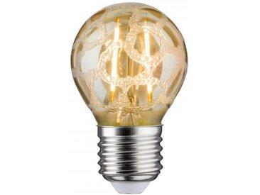 Paulmann LED Retro-Tropfen 4,5W E27 Krokoeis Gold Warmweiß dimmbar