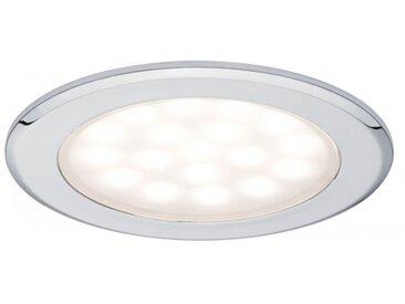 Paulmann LED Möbel Einbauleuchte rund 2er-Set 2x2,5W Chrom